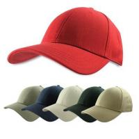 Quality Solid Color Baseball Cap, Plain Structured Cotton Ball Hat, Black, Red, Khaki, Blue, Adjustable for sale