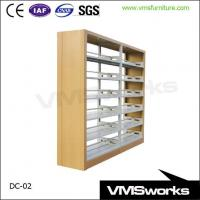 China Wooden Protector School Library Furniture Equipment 6 Shelves Book Shelves on sale