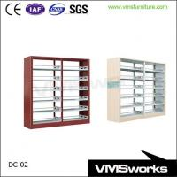 China Double Sides Metal Library Furniture Bookshelves For Schools on sale
