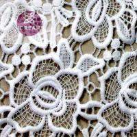 Quality Polyester Mesh Hole African Cord Net Crocheted Lace Fabric for sale