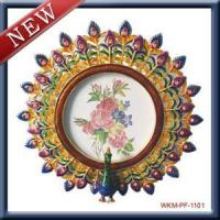 China Arts & Crafts Peacock grade metal frames of the opening screen gift on sale
