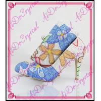 China Aidocrystal handmade Italian shoes with matching bags crystal decorate shoes with clutch bag on sale