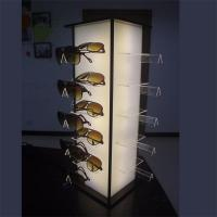 China Wooden and Acrylic Sunglasses Display Cabinet with LED Lights on sale