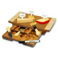China Picnic Time Concavo Cutting Board and Cheese Tool Set on sale