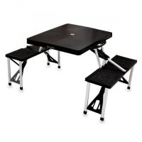 Quality Picnic Time Picnic Table, Portable w/ 4 Seats, Black for sale