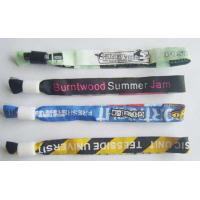China Woven Label style wristbands on sale