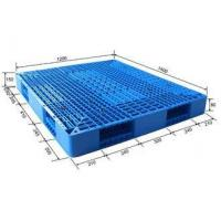 China Standard Size Stackable Reusable Plastic Pallets Blue Color HDPE Or PP Material on sale