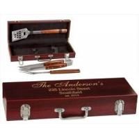 China Barbecue Sets Engraved Rosewood BBQ Set, for the King of the Grill on sale