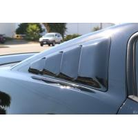 Quality 2005-2014 Mustang Quarter Window Louvers SMOKED Plastic SEE THROUGH TRANSLUCENT (Pair) for sale