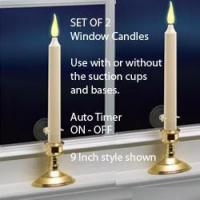 China 12 Inch LED Window Candles 6 hour Timer - Set of 2 on sale