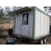 Quality Fireproof Portable Modern Modular Homes , Flat Roof Prefab House for sale