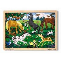 China Melissa and Doug Frolicking Horse Jigsaw Puzzle on sale