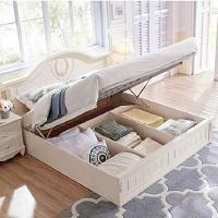 China King Size Teak Wood Double Bed Designs With Box on sale