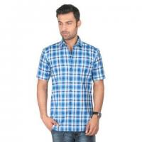 Quality Cotton Custom Shirts Short Sleeve Plaids Casual Shirt 100%cotton Fabric Shirts for sale