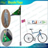 China PVC Bicycle flag with 150cm fiber-glass pole and metal bracket for bike on sale
