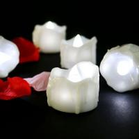 China Cool White Battery Operated Candles Valentine's Day White Wedding LED Tealight Candle on sale