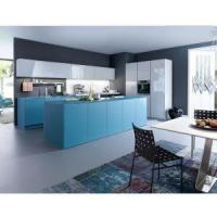 China Professional Kitchen Cupboards with Frosted Glass Kitchen Cabinet Doors on sale