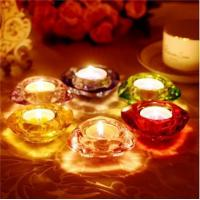China Crystal Round Diamond Shaped Wholesale Glass Votive Candle Holder on sale