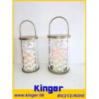 Best Painted Large Rope Handle Metal Candle Holder Lanterns with Flameless LED Candle wholesale