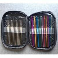 Best pu crochet hook set storage bag , pu knitting needles bag wholesale