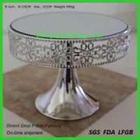 China Square Gold Wedding Cake Stand on sale