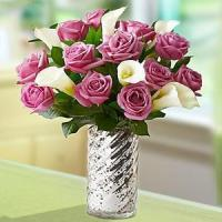 Buy cheap Valentine's Day Enchanted Purple Rose & Calla Lily.No.65 send flower to sydney from wholesalers