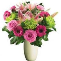Buy cheap Valentine's Day Pink Rose, Gerbera & Lily Bunch.No.26 send flower to australia s from wholesalers