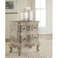 Chests & Dressers Carved French Bow Nightchest in Weathered Solids