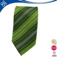 China high quality custom color green stripe tie on sale