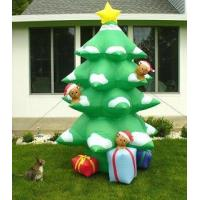 Best Inflatable Christmas tree with led lights and star inflatable Christmas decoration gift wholesale