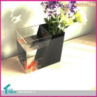 China Acrylic Plants Vase With Fish Tank on sale