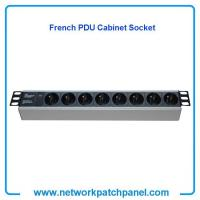 China 19 inch Standard Rack 8 Gangs 8 Ways French PDU Cabinet Sockets French Cabinet PDU Factory on sale