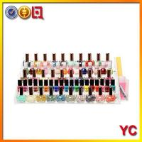 Best COS160 4 tier clear acrylic colorful nail polish bottles display rack wholesale