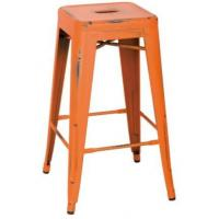 China Metal Spray Painted Counter Stool on sale