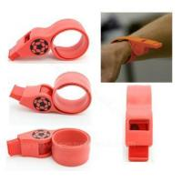 Quality Item:SA-GJ03 silicone slap wristband with whistle for sale