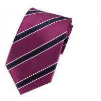 China Mens 100% Polyester Casual Style Stripes Small MOQ Own Logo Strip Tie Purple on sale