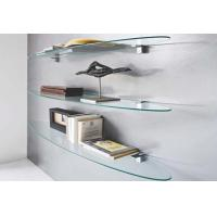 China Oval Tempered Wall Glass Shelves For Office on sale