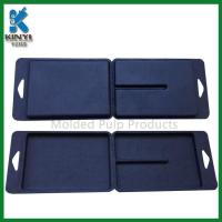 China Customized Black Color Biodegradable Fiber Pulp Molded Packaging Boxes on sale