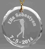 Best Christmas Decor Personalized Ladies Glass Christmas Golf Ornament wholesale