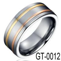 China New Tungsten Rings Gold Inlay Tungsten Wedding Ring GT-0012 on sale