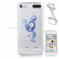 Best Blue Bear Painted Non-slip TPU Back Cover for iPod Touch 5 6 wholesale