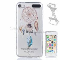 Best Feather Wind Chimes Painted Non-slip TPU Back Cover for iPod Touch 5 6 wholesale