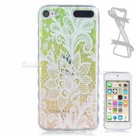 Best Gradient Rose Painted Non-slip TPU Back Cover for iPod Touch 5 6 wholesale