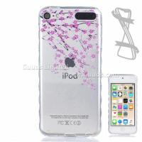 Best Peach Painted Non-slip TPU Back Cover for iPod Touch 5 6 wholesale