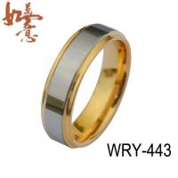 China Gold Tungsten Rings Two tone Gold Tungsten Ring 6mm WRY-443 on sale
