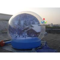 Quality 0.8mm transparent pvc advertising Christmas gift cover inflatable bubble tent for trade show for sale