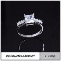 China Rings Fashion Solid Silver Jewelry Latest Engagement Wedding Ring Designs on sale