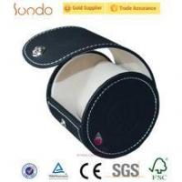 Quality custom round shape watch box leather for sale