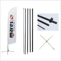 China Aluminum flag pole for outdoor flag banner on sale