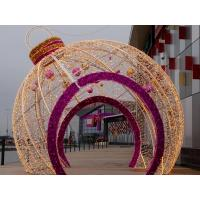 China LED Christmas Ball Shape Light Giant Outdoor Motif Decoration Light on sale